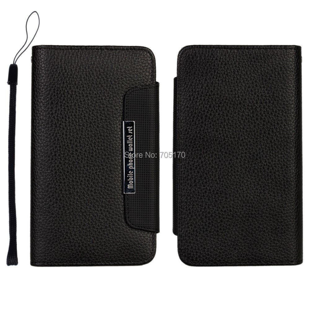 10pcs/lot , 2 in1 Lichee Pattern leather Horizontal cover with stand & Wallet Credit Card holder Case for Galaxy Note3 N9006