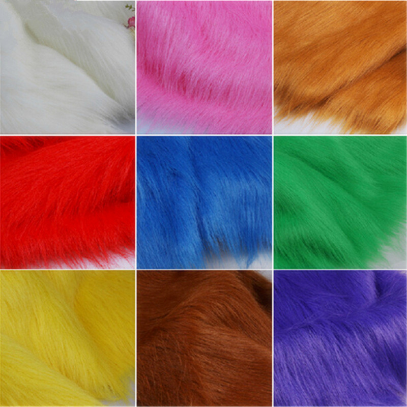 2016hot multicolor faux fur fabric imitation for animal for Sewing material for sale