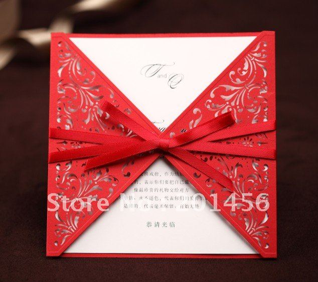 Aliexpresscom buy invitation card wedding invitation for Order in wedding invitation envelope