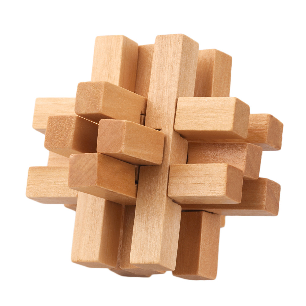 Adult Wooden IQ Brain Teaser Kong Ming Lu Ban 14 Lock Puzzle Magic Cube Gift Hot Selling(China (Mainland))