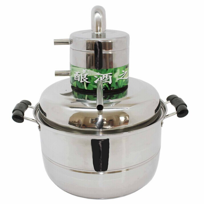 2014 New Upgrade 10 Litre Household floral water distiller DIY Stainless Steel Spirits(alcohol) Distillation Boiler Alembic(China (Mainland))