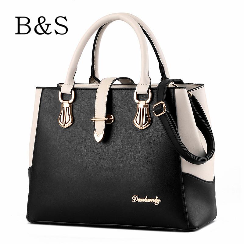 Famous Designer Brand Women Bags Leather Handbags Fashion Double Color Female Messenger Shoulder Over Bag Cross-Body bolsos 2016(China (Mainland))