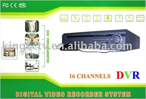 H.264 16 Cameras DVR Surveillance System Kits