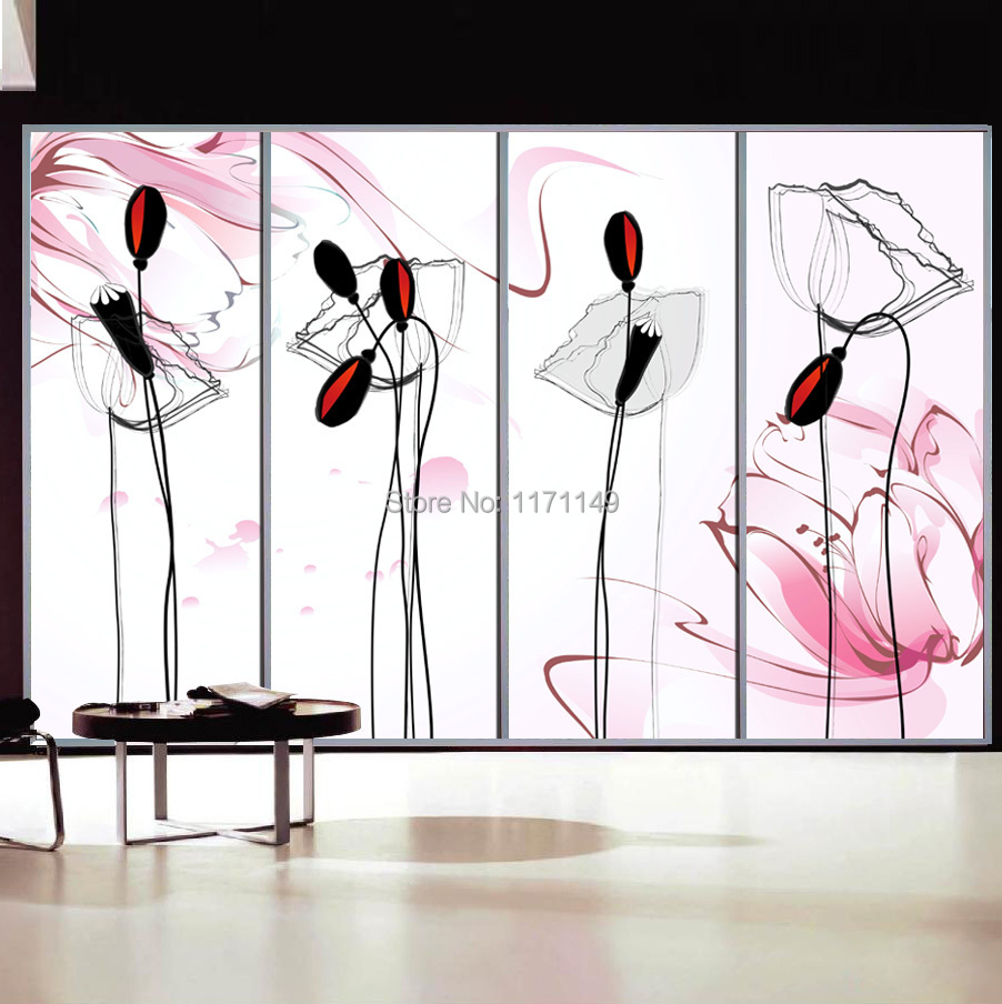 Glass stickers for doors images for Back painted glass designs for wardrobe