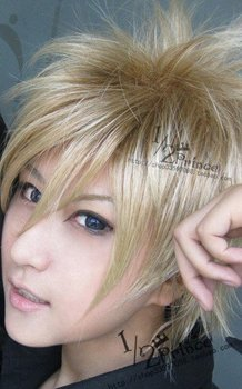 Power Dolls,426,Fusion blonde short shaggy layered cosplay anime wig