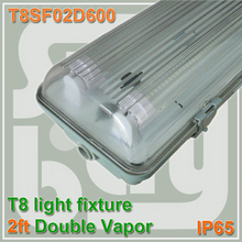 Double T8 T10 600mm 2ft 2foot light fixture Fluorescent lamp holder IP65 waterproof 60cm Led Tube fittings