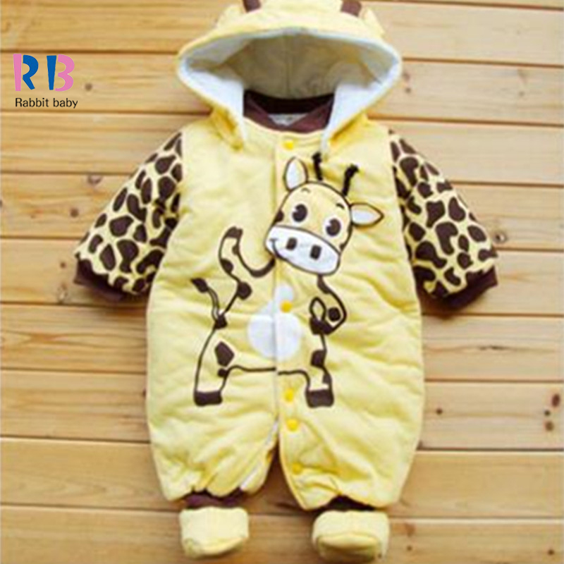 Fall winter boys girls baby hoodies Foot Siamese clothes thickened with Ladybug baby Cows climbing clothes cotton Free ship(China (Mainland))