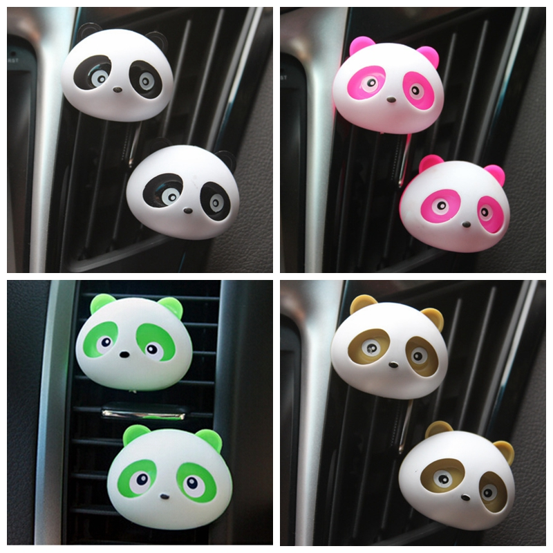 2pcs perfumes 100 original Air Freshener Car Air Conditioning Vent Perfume Panda Eyes Jump for VW golf 4 5 opel astra(China (Mainland))