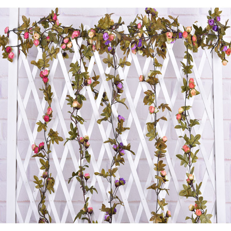 1pc High Quality Rose Vine/Rattan Europe Style Autumn Spun Silk Wall Hanging Antique Flowers Vines Christmas Decoration DW102(China (Mainland))