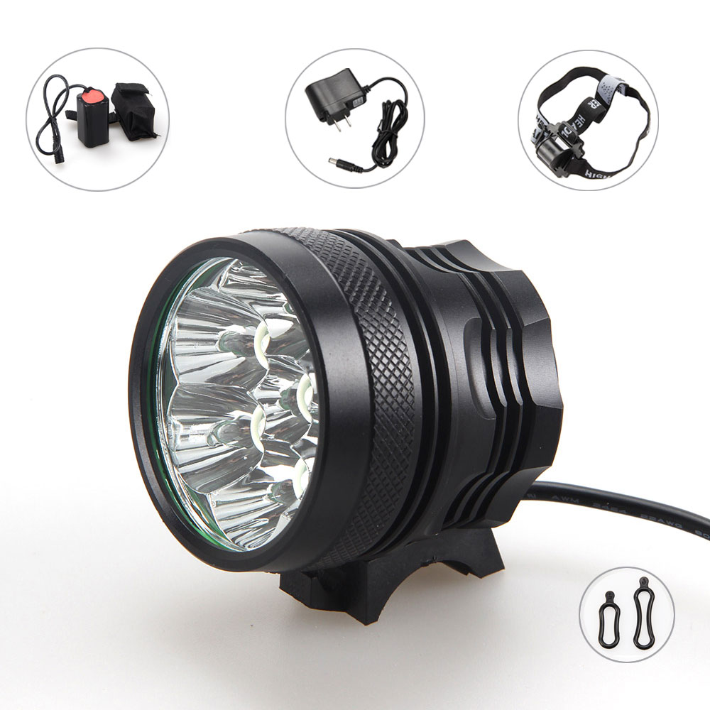 9000lm 7XCREE XML T6 LED Head Front Bicycle Cycling light Bike Lamp Headlamp 4X18650+CH<br><br>Aliexpress