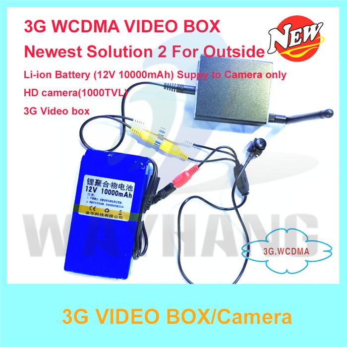 Free Shipping HD 3G Camera with 10000mAh battery, 3G Video box, 3G video call alarm camera for Real time(China (Mainland))
