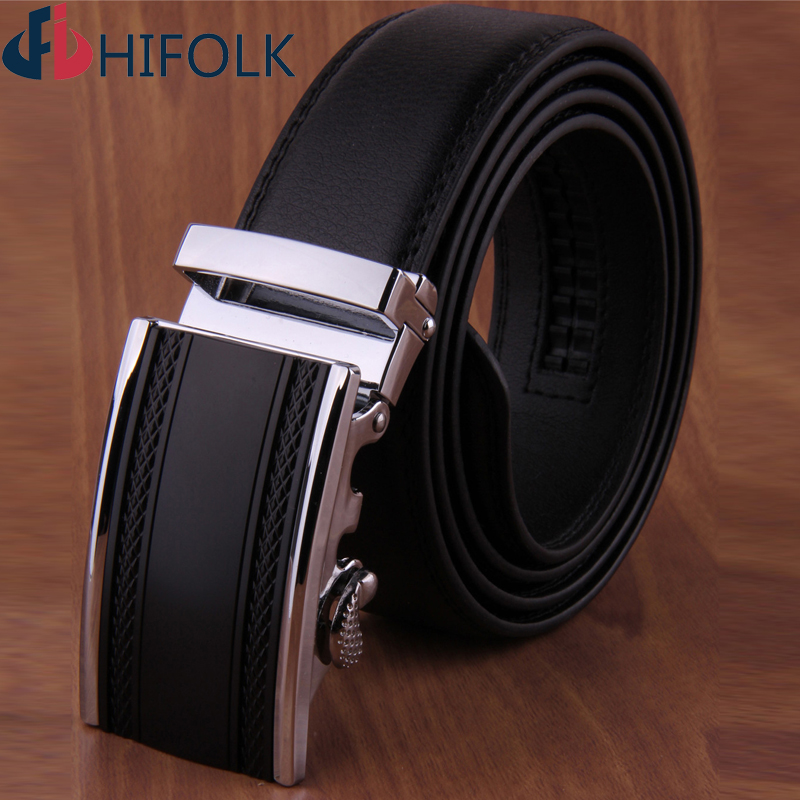 Solid Male plate strap Genuine real leather auto lock buckle belts for men Ceinture Cintos D609 Brand designer(China (Mainland))