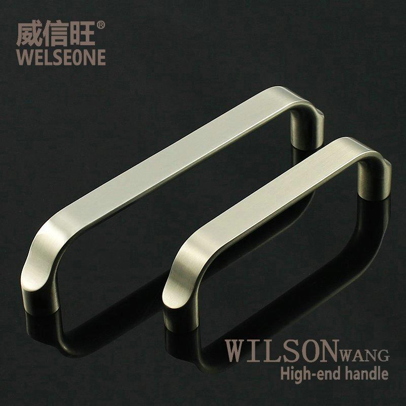 Modern minimalist fashion buying price brushed steel kitchen cabinets drawer wardrobe door handle furniture hardware handles(China (Mainland))