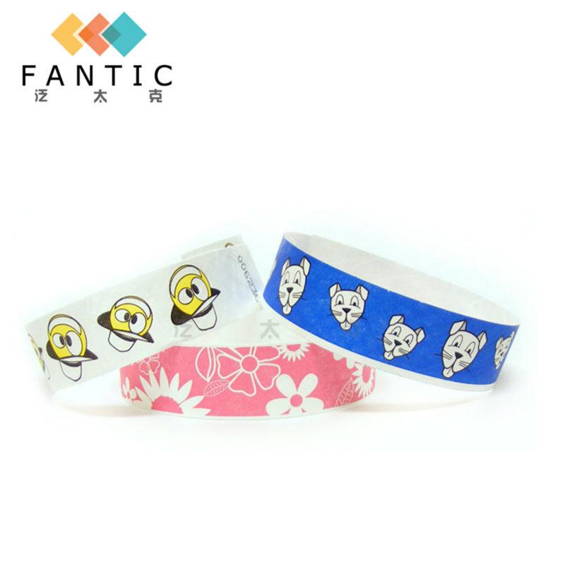 200pcs without logo multi-color customized paper wristband china paper wristband free sample fair cheap wristband(China (Mainland))