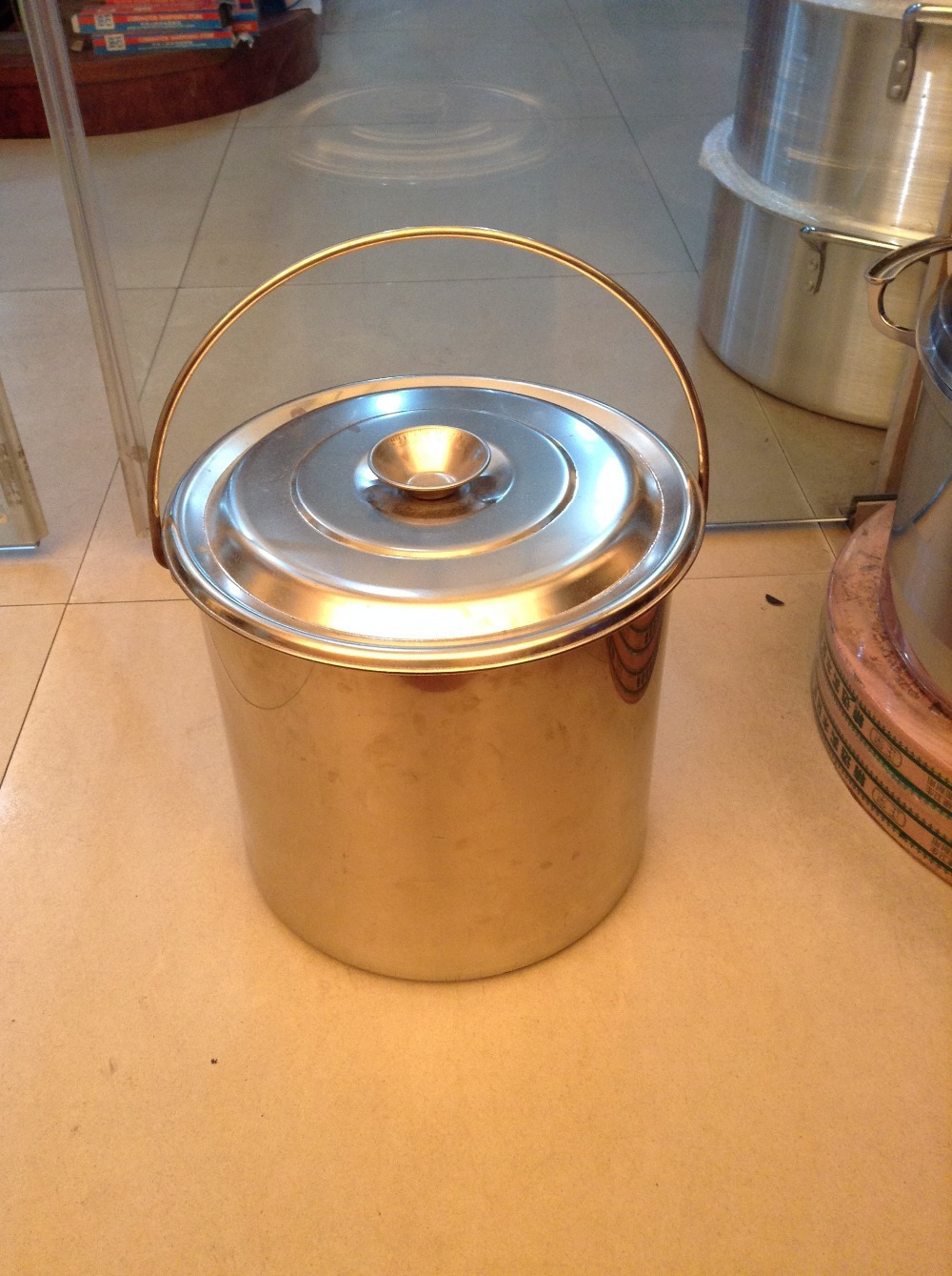 stainless steel pot soup pot stock pots soup barrel shipping many size panela pail 22 Liters(China (Mainland))
