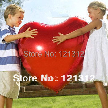Гаджет  Free shipping! wholesale 75cm Large imports of aluminum balloons wholesale gourmet lovers heart balloon gift ideas None Игрушки и Хобби