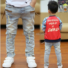 Retail —-2014 spring and autumn new children 's jeans boys wild baby kids fashion jeans children jeans new free shipping 1 pis