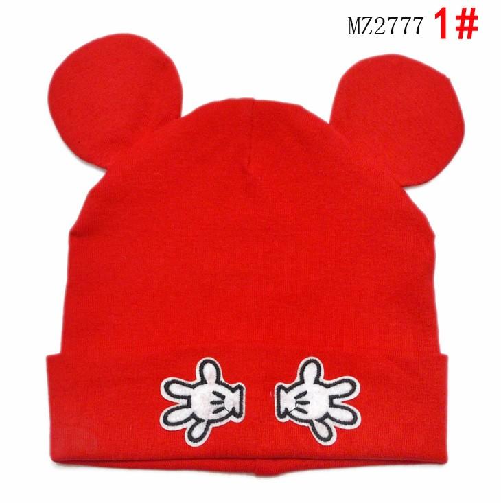 Розничная мужская мультфильм маленькая рука с двойным шапочки хлопок шляпы детей дети весна осень вязаная шапка шлем MZ2777