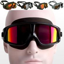 Brand New Polarized Swim Goggles Swimming Glasses Anti-Fog UV Large Wide men women adults Sport Waterproof  Silicone Mirrored(China (Mainland))