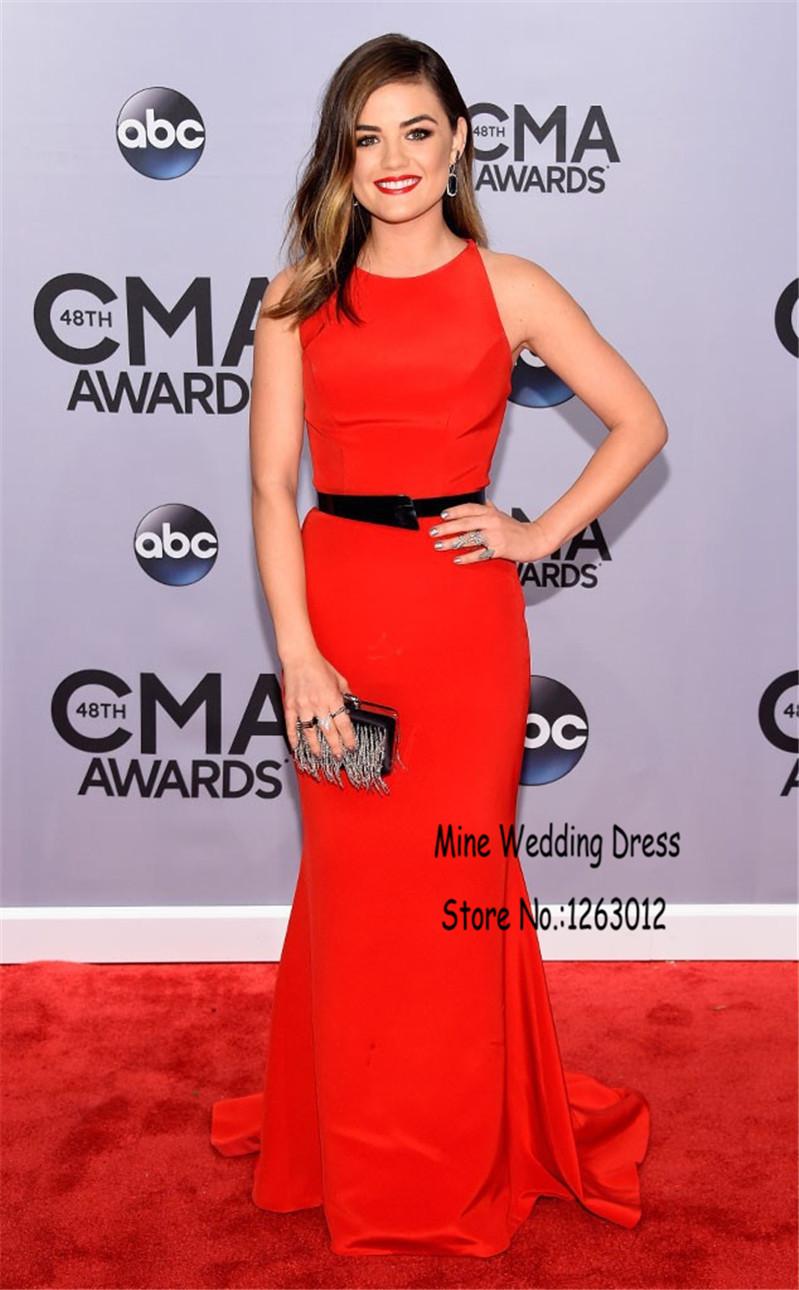 Высокая образным вырезом без рукавов русалка длиной до пола знаменитости с черным створки спинки простой элегантный красный вечернее платье свадебные платья гала