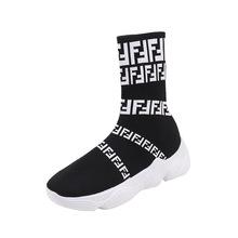 Hip Hop kadın Çorap Çizmeler Sokak Sürgün Roma Kadın Rahat Kış Çizmeler rahat ayakkabılar Kış Yüksek elastik Çizmeler(China)