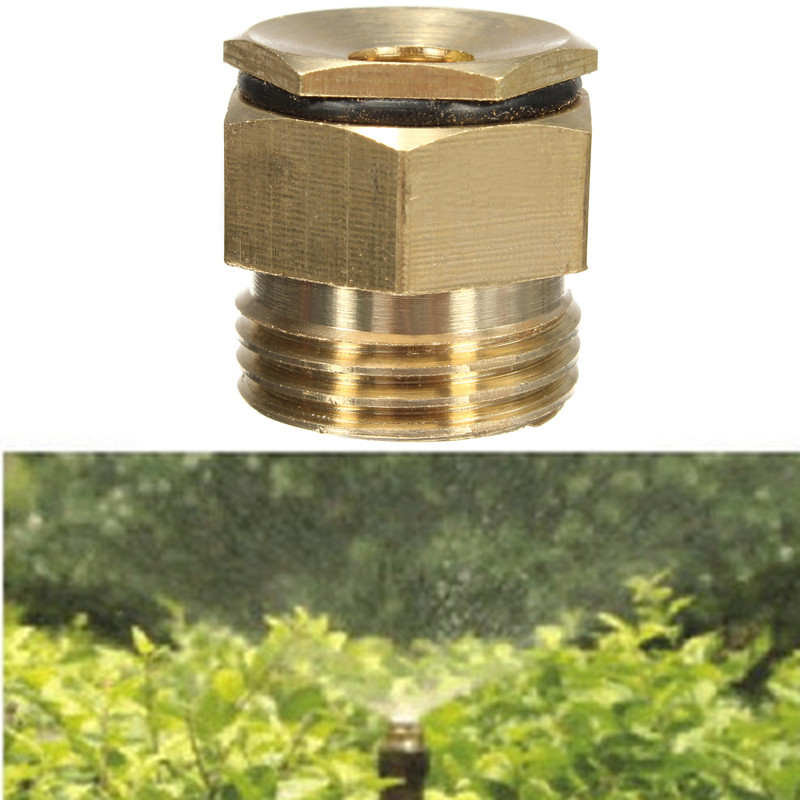 New 10Pcs 360 Degrss Garden Sprinkle Connector Thread Water Sprinkler Irrigation Spray Nozzle Watering Head Brass Supplies(China (Mainland))