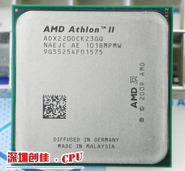 Free shipping AMD CPU Athlon II X2 220 CPU 2.8GHz Socket AM2+/AM3 938PIN dual-core 65w processor scrattered pieces(China (Mainland))