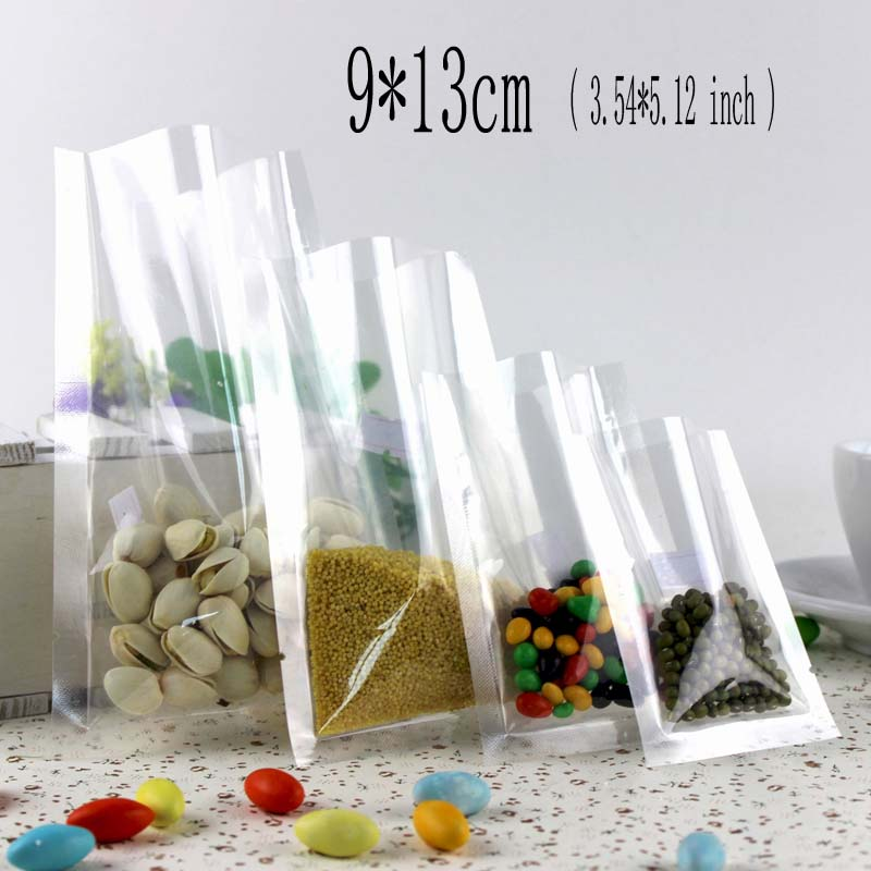 9*13cm (3.51*5.12inch) 100Pcs Sugar Packing Vacuum Bag For Sachet Bonbon Tea Food Cookie Packaging Bags Plastic Shopping Bags(China (Mainland))