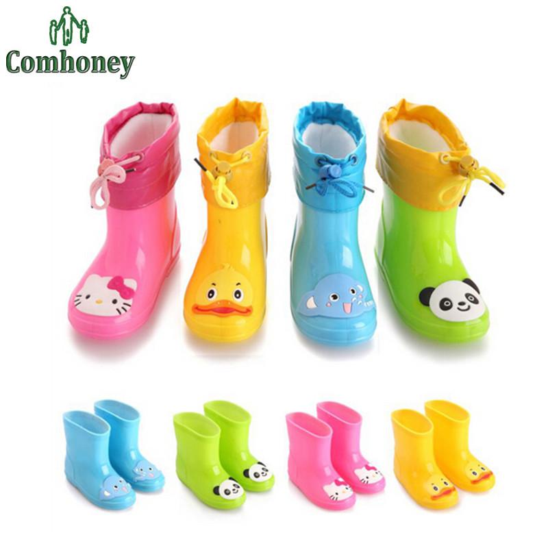 Hello Kitty Kids Rain Boots Waterproof Minnie Mouse Rubber Shoes For Girls Boys Rainboots Children Cartoon Animal Rainboots(China (Mainland))