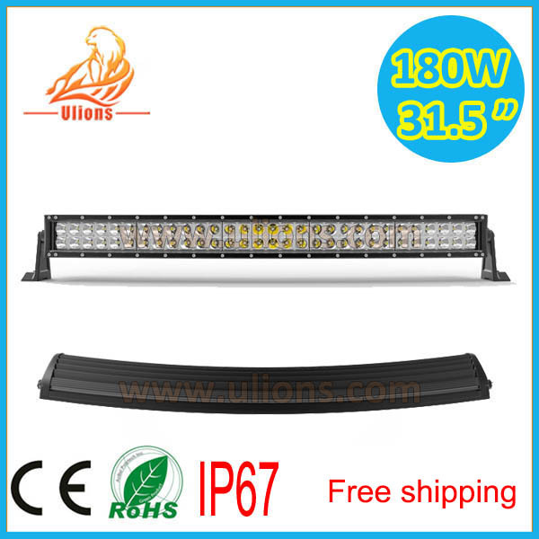 180W 14400lumen 10-30v 31.5inch Curved cree led light bar road work truck UL-D2180X - China(GuangZhou store Ulions electronic technology co., LTD)
