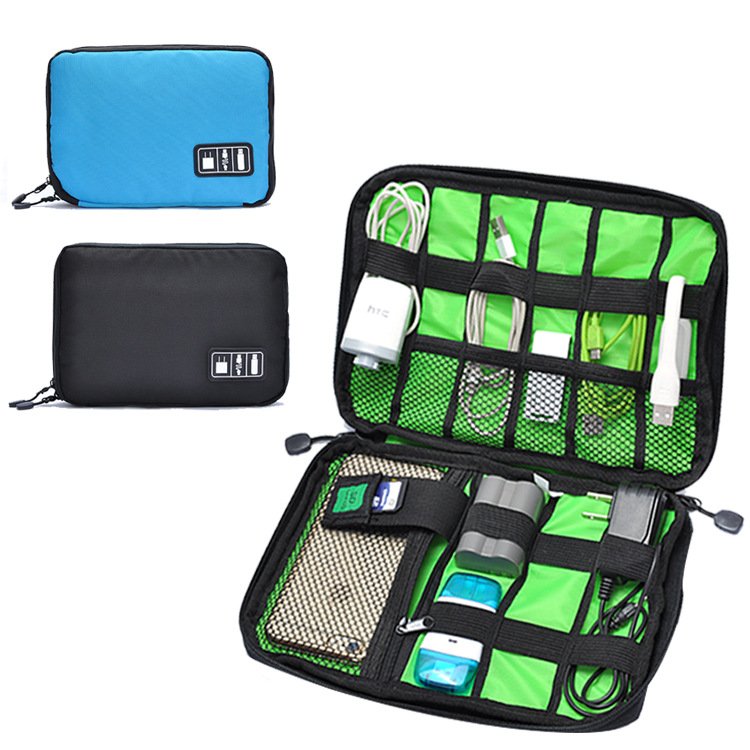new travel waterproof shock products charging treasure Cable Storage Bag Power Line Organizer USB Case Accessories Finishing Bag(China (Mainland))