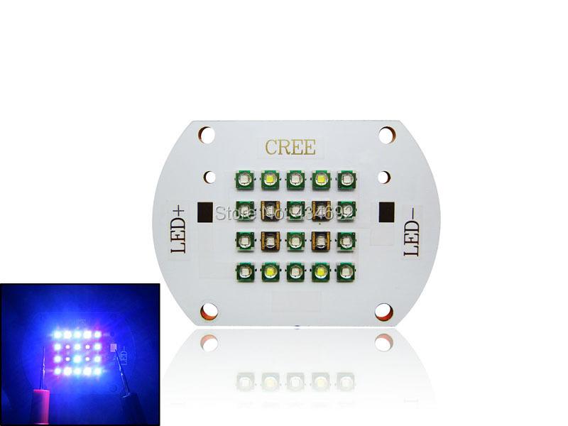 60W CREE XPE XP-E + SemiLEDs DIY Led Lamp Light 30-36V 420NM 450NM 470NM 530NM 10000K(China (Mainland))