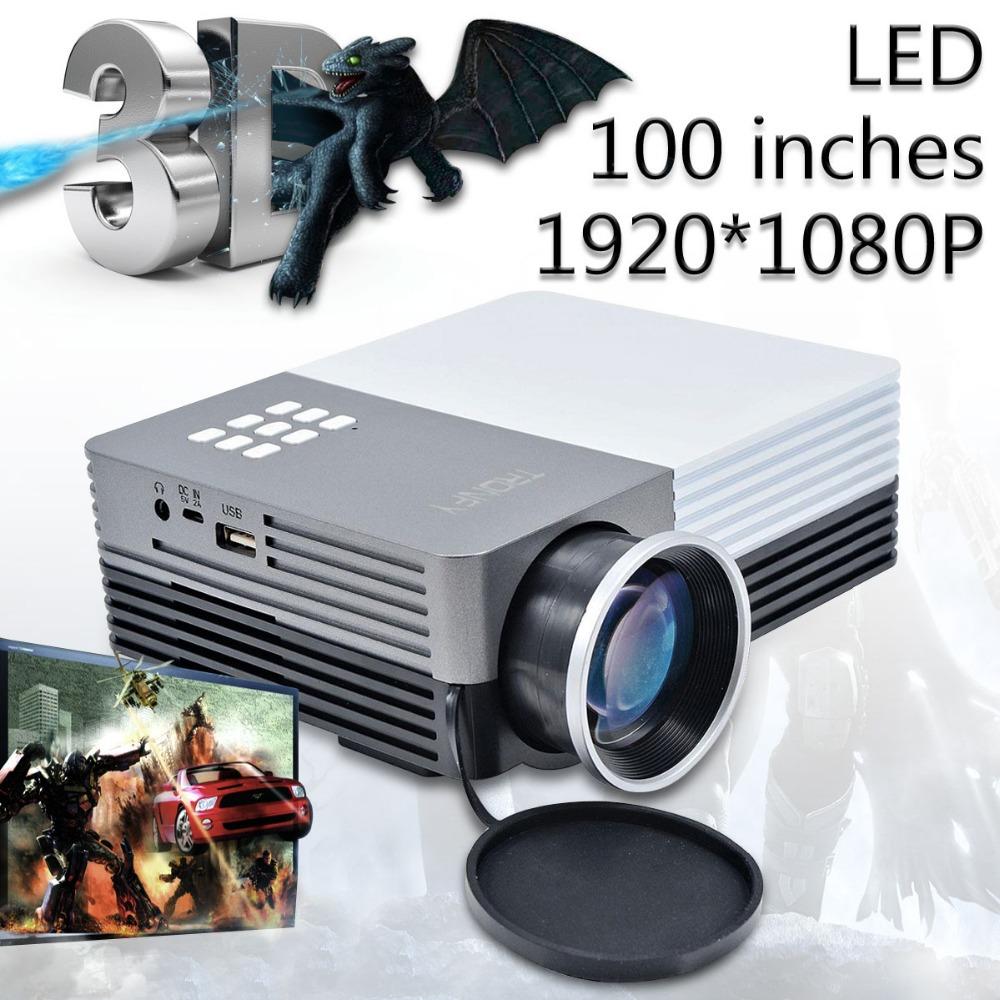 2015 Hot 1080P FHD Portable Multimedia 3d LED Projector Mini Video Proyector Home Theater HDMI VGA AV USB SD Projektor TV Beamer(China (Mainland))