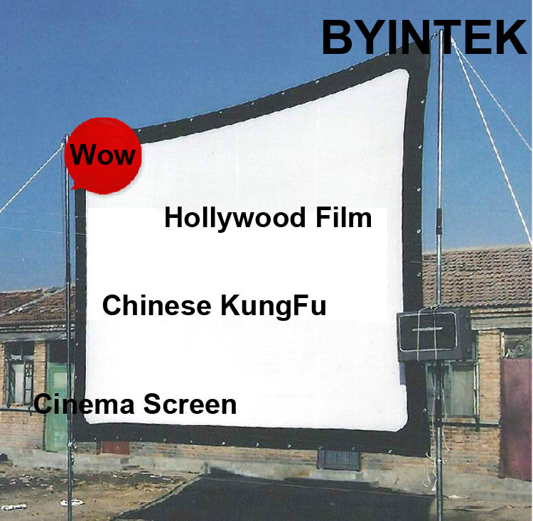 Matte White Soft fabric Home Theater 100inch 16:9 Projection HD Video Projector Simple Cinema Screen with holes Free Shipping(China (Mainland))