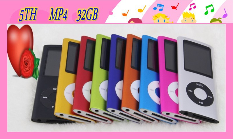 direct selling 50 pieces real New 32GB 5th Gen Christmas MP4/MP5 Player Camera Free shipping(China (Mainland))