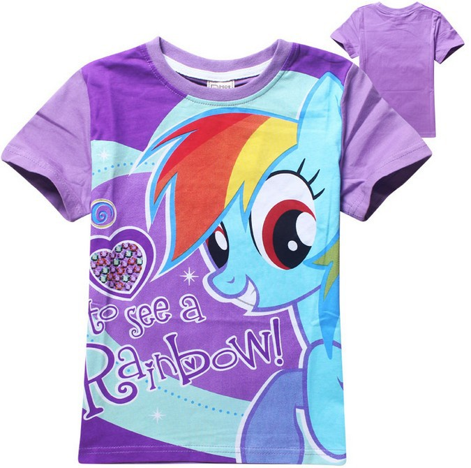 FreeShipping 100% cotton summer cartoon little t shirt girl pony clothes children's t-shirts retail - Lovely Angel's store