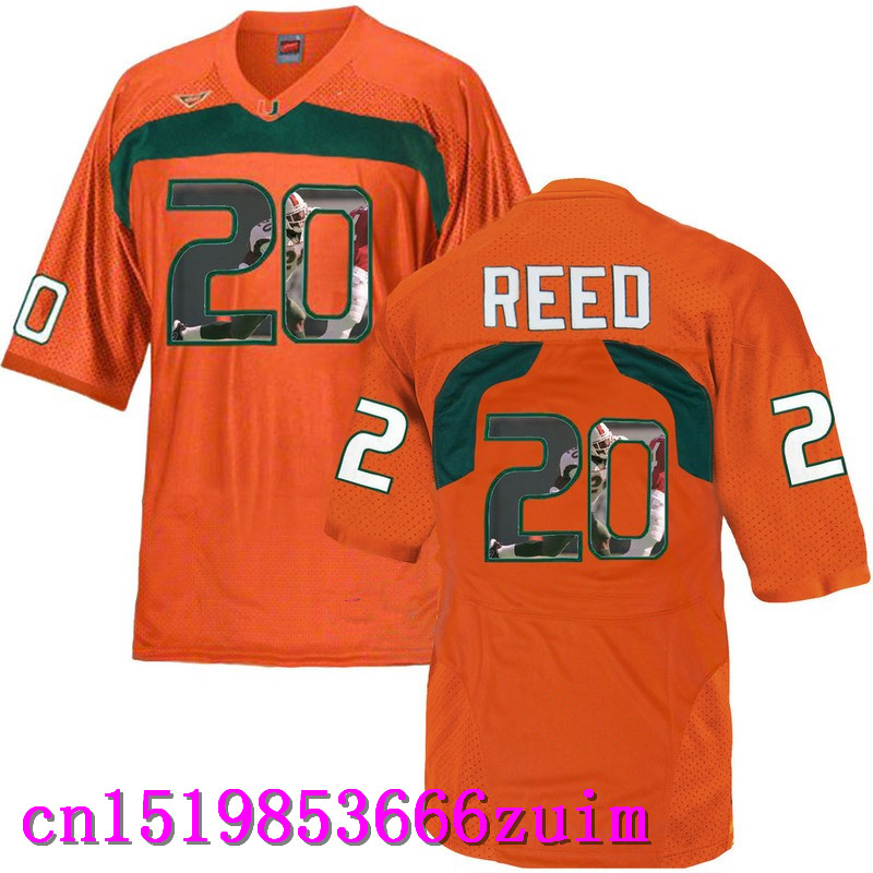 2017 Men's Miami Hurricanes Ed Reed #20 Multiple color optional(China (Mainland))