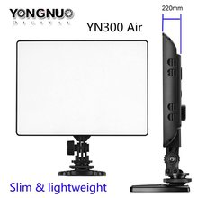 Newest YONGNUO YN-300 YN300 Air Ultra Thin On Camera Led Video Light Pad Panel for Canon Nikon Sony Panasonic DSLR Camcorder