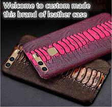 ND10 ostrich foot pattern genuine leather hard case Asus Zenfone 2 Laser ZE550KL cover Laser(5.5') - H-Q store