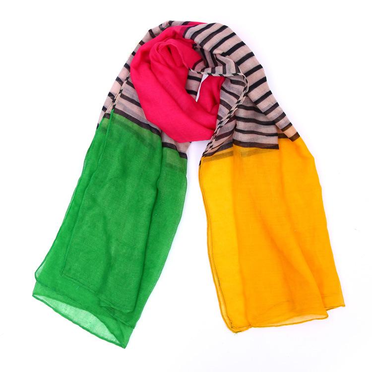 fashion colorful fringe scarf voile scarf shawl scarf