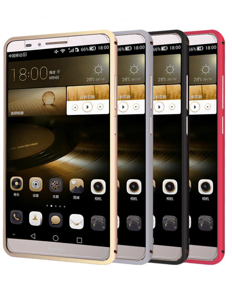 Luxury Aluminum Metal Frame Bumper For Huawei Ascend Mate 7 back cover case free shipping al(China (Mainland))
