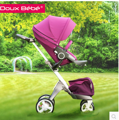 Douxbebe two-way baby car folding trolley summer car umbrella shock absorber for plory x(China (Mainland))