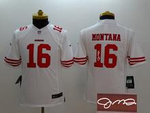 Signature youth San Francisco 49ers children 16 Joe Montana 42 Lott 80 Jerry Rice 82 Torrey Smith 81 Anquan Boldin,camouflage(China (Mainland))