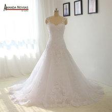 Straps A-line Wedding Dress Cheap Price High Quality Bridal Dresses 2016(China (Mainland))