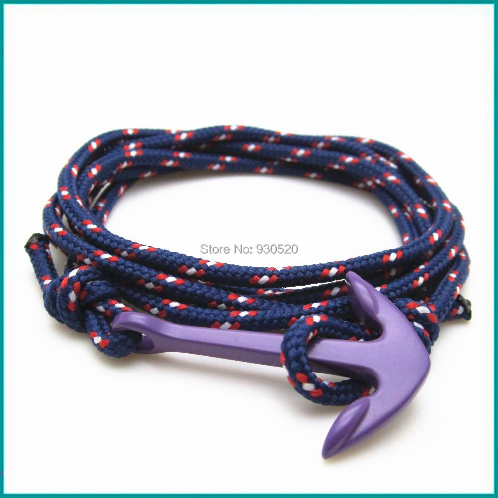 Maritime anchor bracelet Sail Rope Knot Nautical Bracelet()