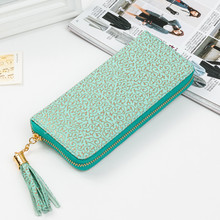 Female wallet 2016 Chinese style Ladies Wallet High quality PU leather long section of the standard wallet fashion tassel Clutch(China (Mainland))