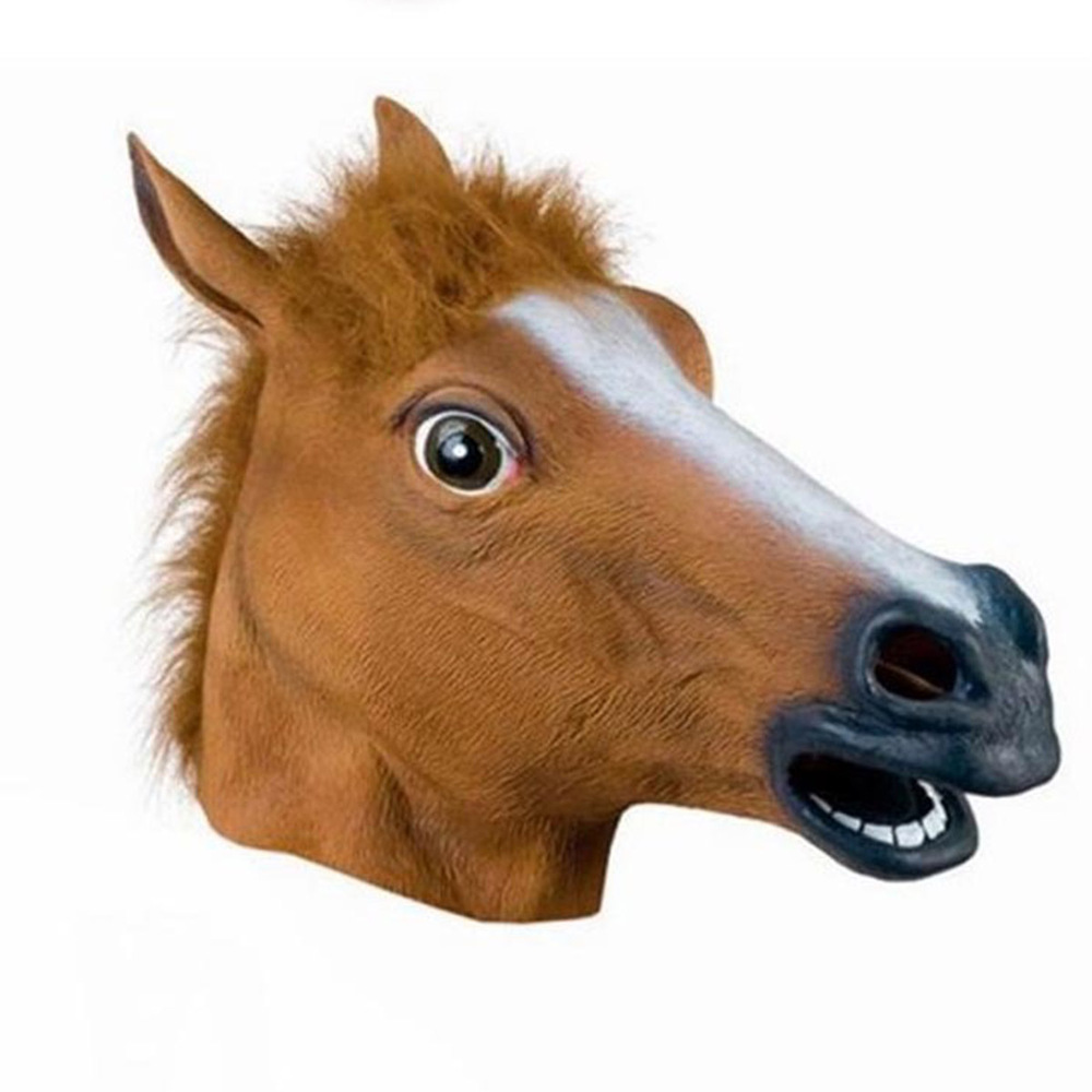 Horse Head Latex Mask Halloween Masks Theater Prop Horror Mask Cosplay Costume Masquerade Mask Festive & Party Supplies(China (Mainland))