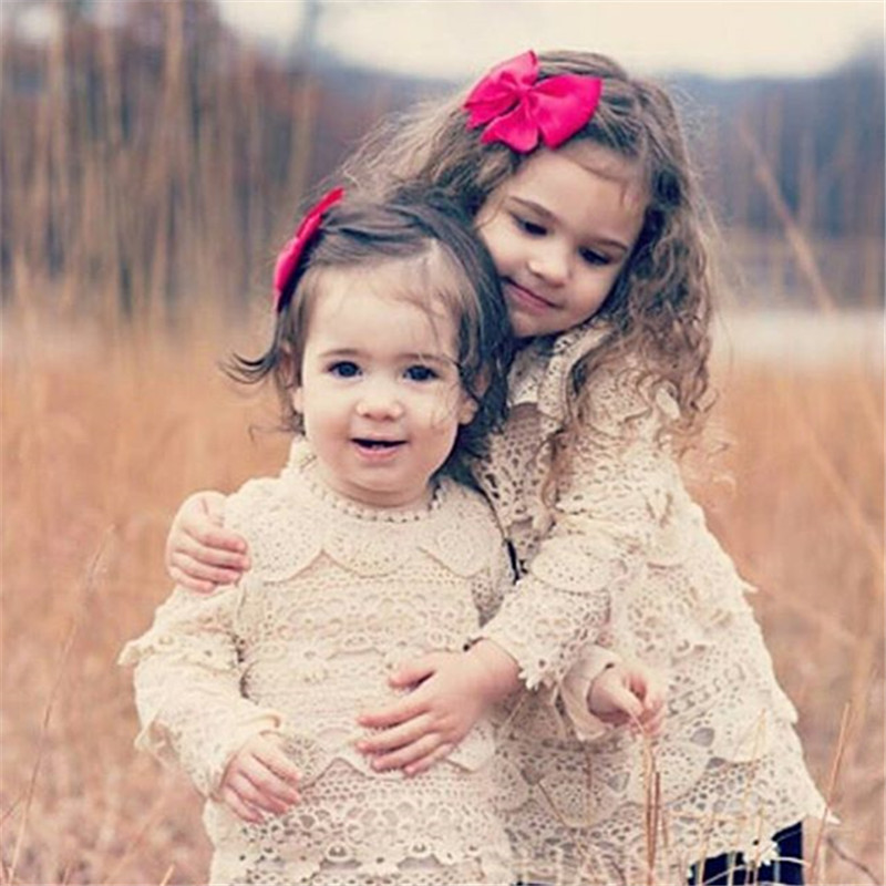 2016 Hot Baby Girls Dress Lace Full Sleeve Kids Princess Girl Dress Casual Outwear Party Club Fashion Autumn Infant Dress(China (Mainland))