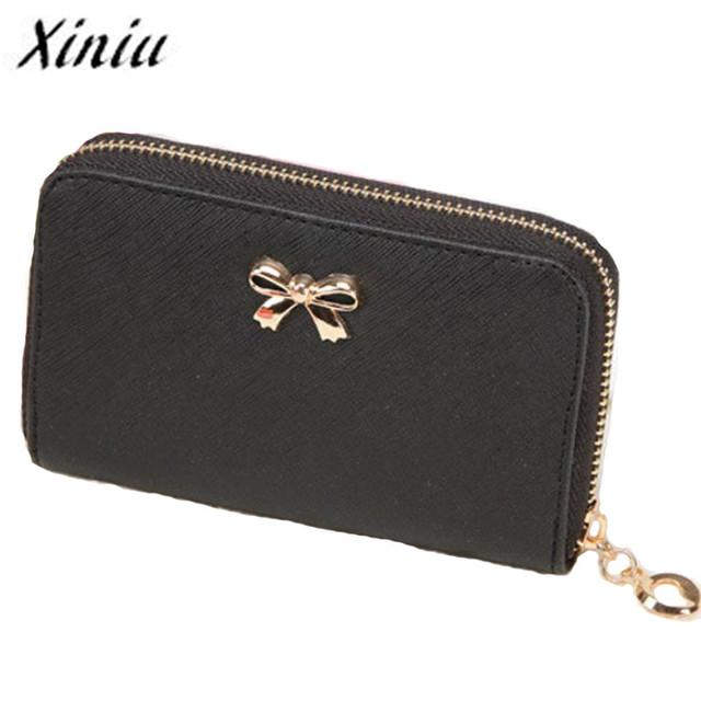 Xiniu Purse Female women's wallets Zipper Leather wallet Women clutch carteira feminina portefeuille femme #YLEW