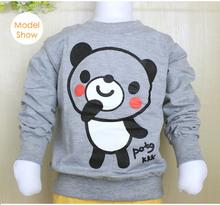 2016 New Arrival Baby Girls Lovely Sweatshirts boys Spring Autumn sweater cartoon long sleeve panda Character